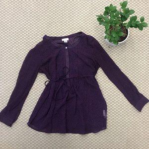 Motherhood Maternity Purple Dot Shirt